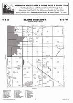 Blaine Township, Hastings, Ayr Lake, Big Blue Lake, Directory Map, Adams County 2007